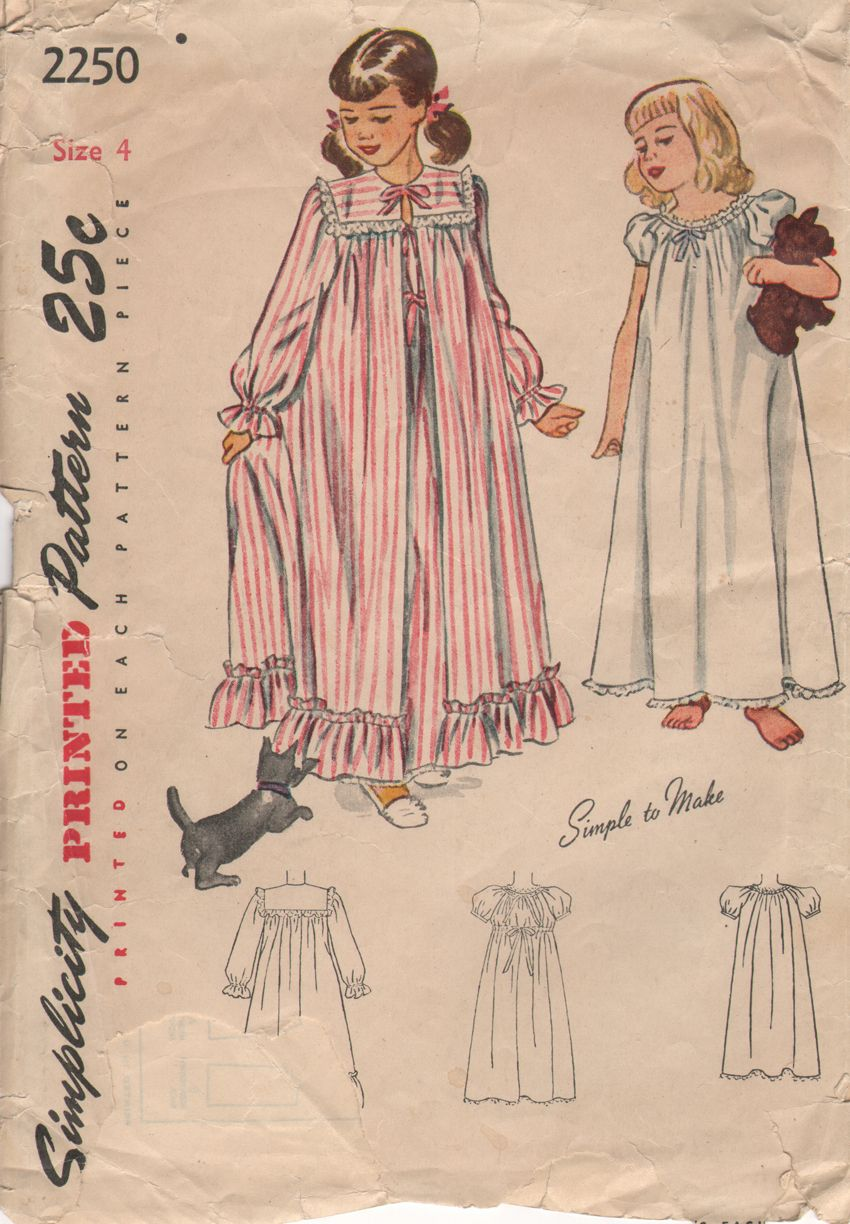 Vintage granny gown pattern - Mom or Marcalea made us granny gowns ...