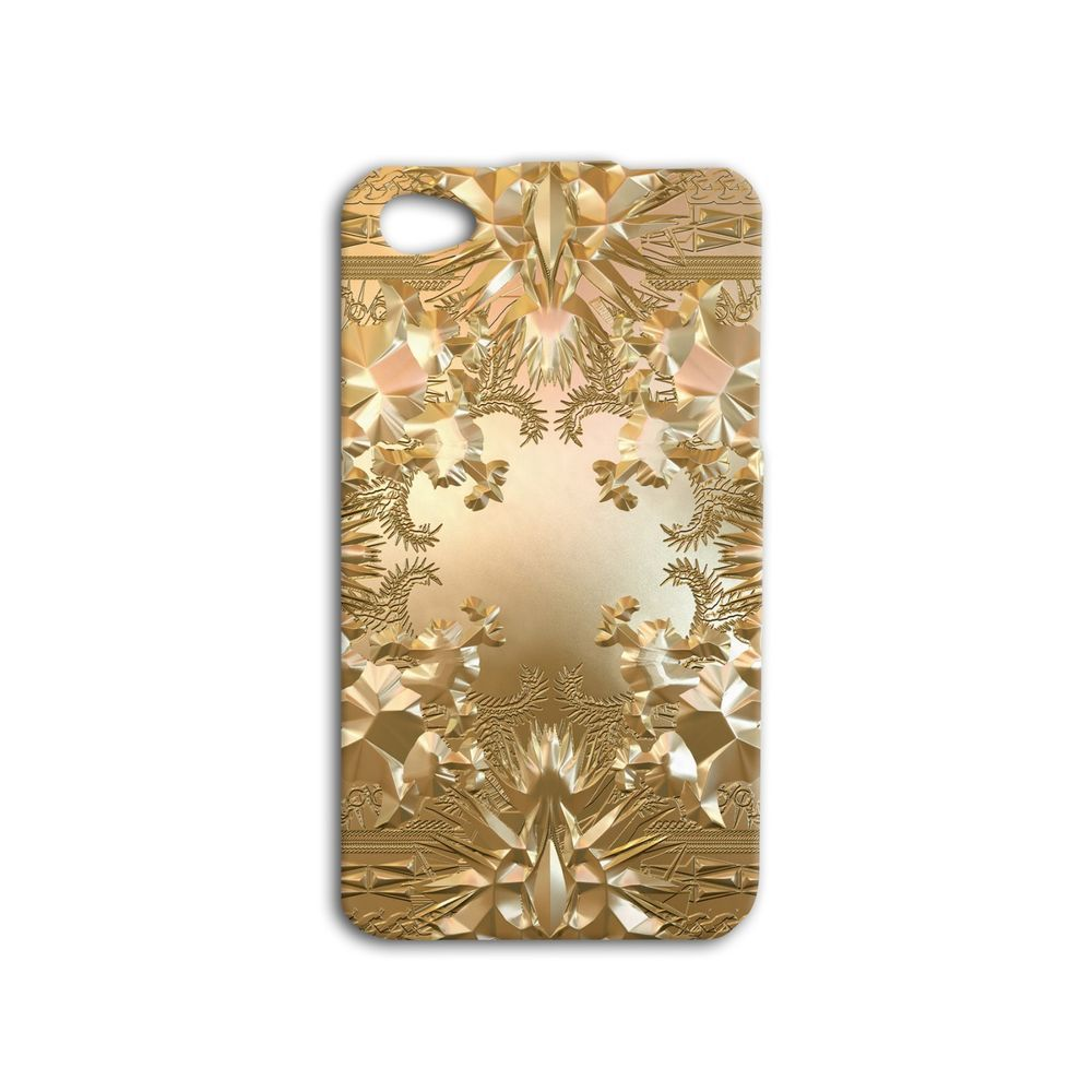 Jay Z Kanye West Gold Album Watch The Throne Cool Gold Music Cute Iphone Case Awesome Phone Cover 4 4s 5 5s 5c