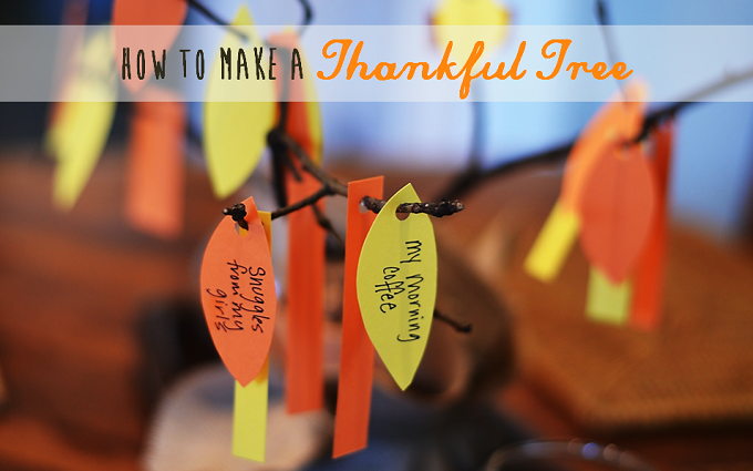 How to Make a Thankful Tree - Redeem Your Ground | RYGblog.com