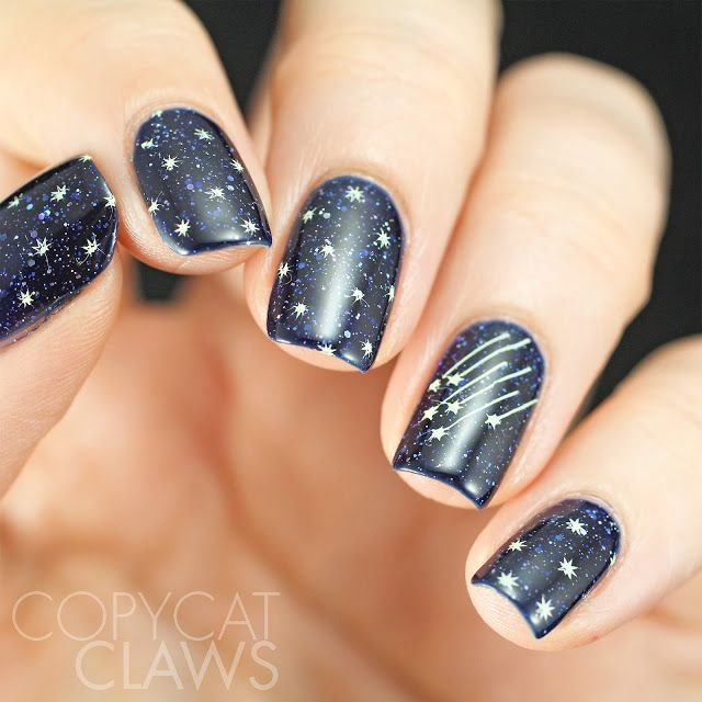 Sunday Stamping Inspired By The Night Sky Beauty Hacks Nails Sky Nails Star Nail Designs