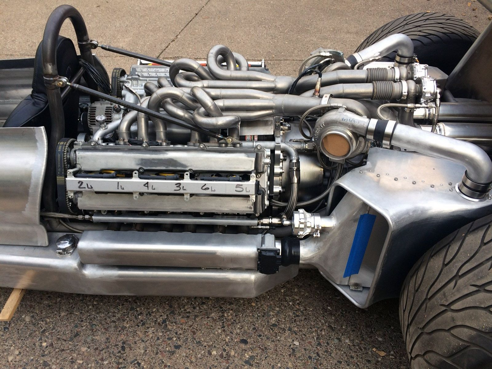 Home built F1 race car with a custom V12 from two Toyota 1JZ