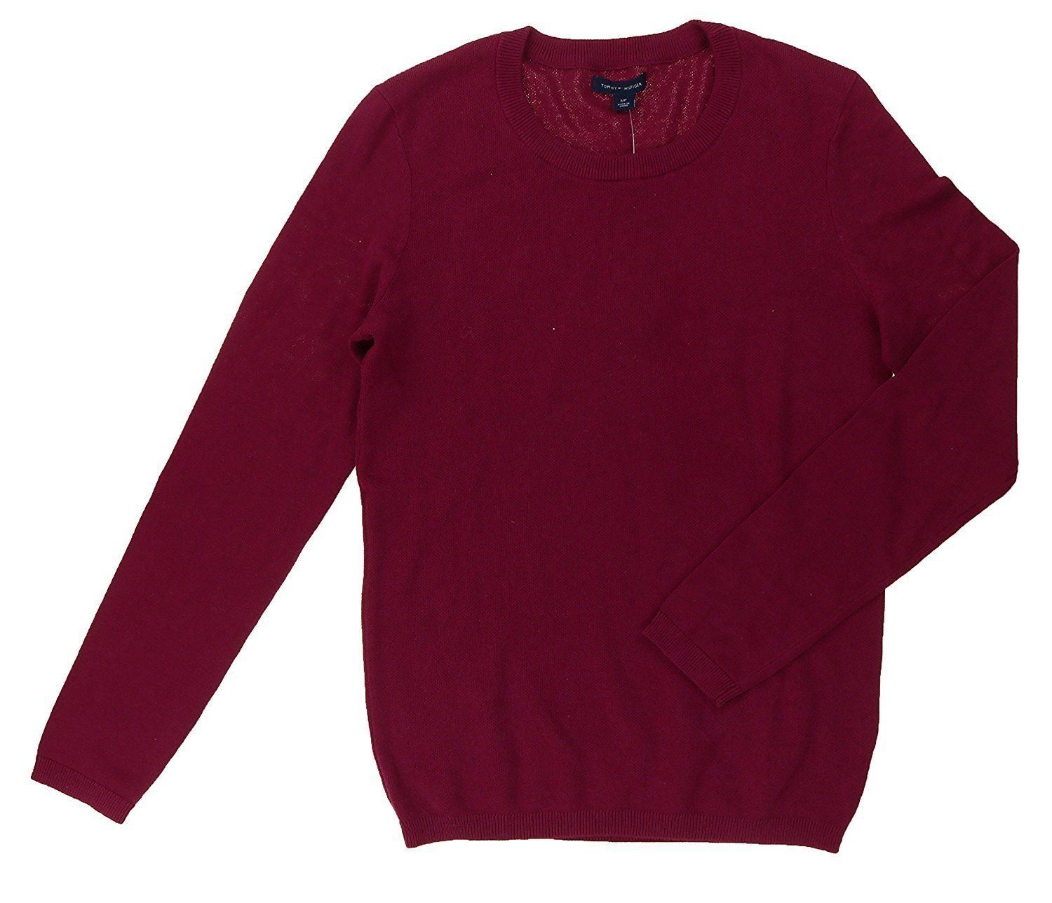 Tommy Hilfiger Womens Size Small Crew Neck Pullover Sweater, Red ...