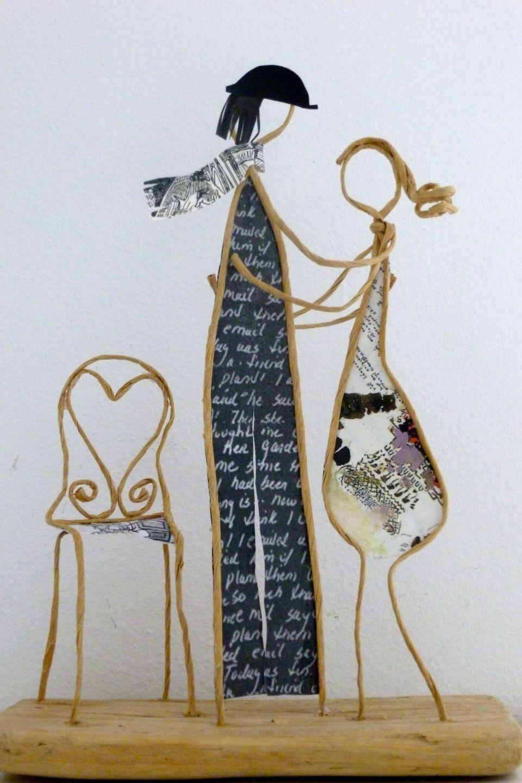 Les amoureux de la Saint-Valentin - Figurines en ficelle et papier ...
