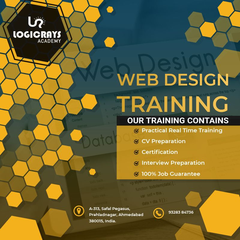 Looking For Best Company For Training In Ahmedabad For Training Then Book Your Seat Today Call On 9316806997 For More Inqu Web Design Training Web Design Train