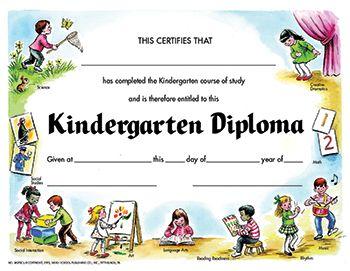 Kindegarten Diploma Pk Certificate Vendor Hayes School
