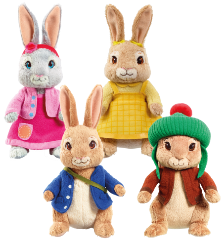 there are three characters to collect peter rabbit his