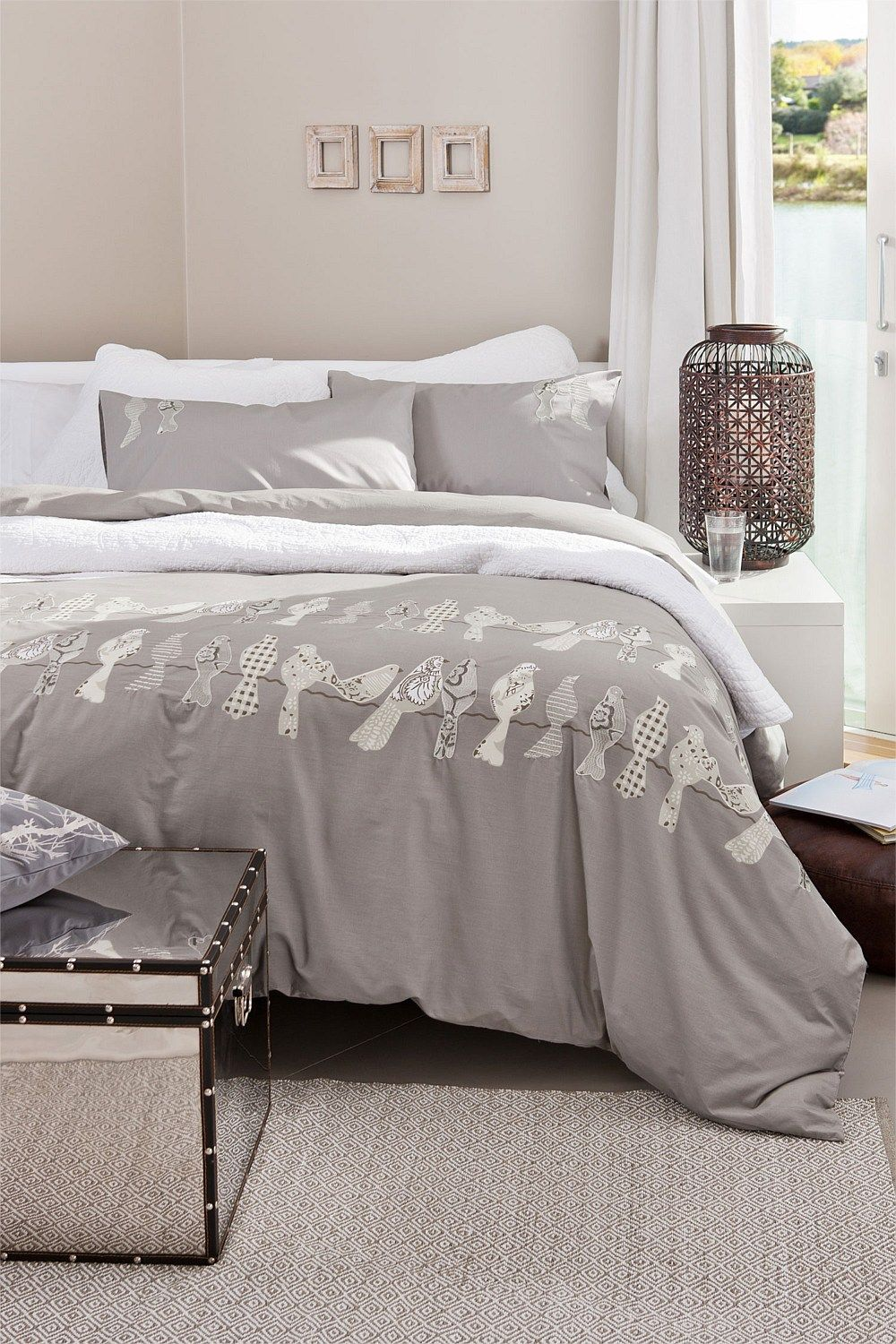 dot bedding grey design linen comforter style king kat sale pintuck set with ease echo sets