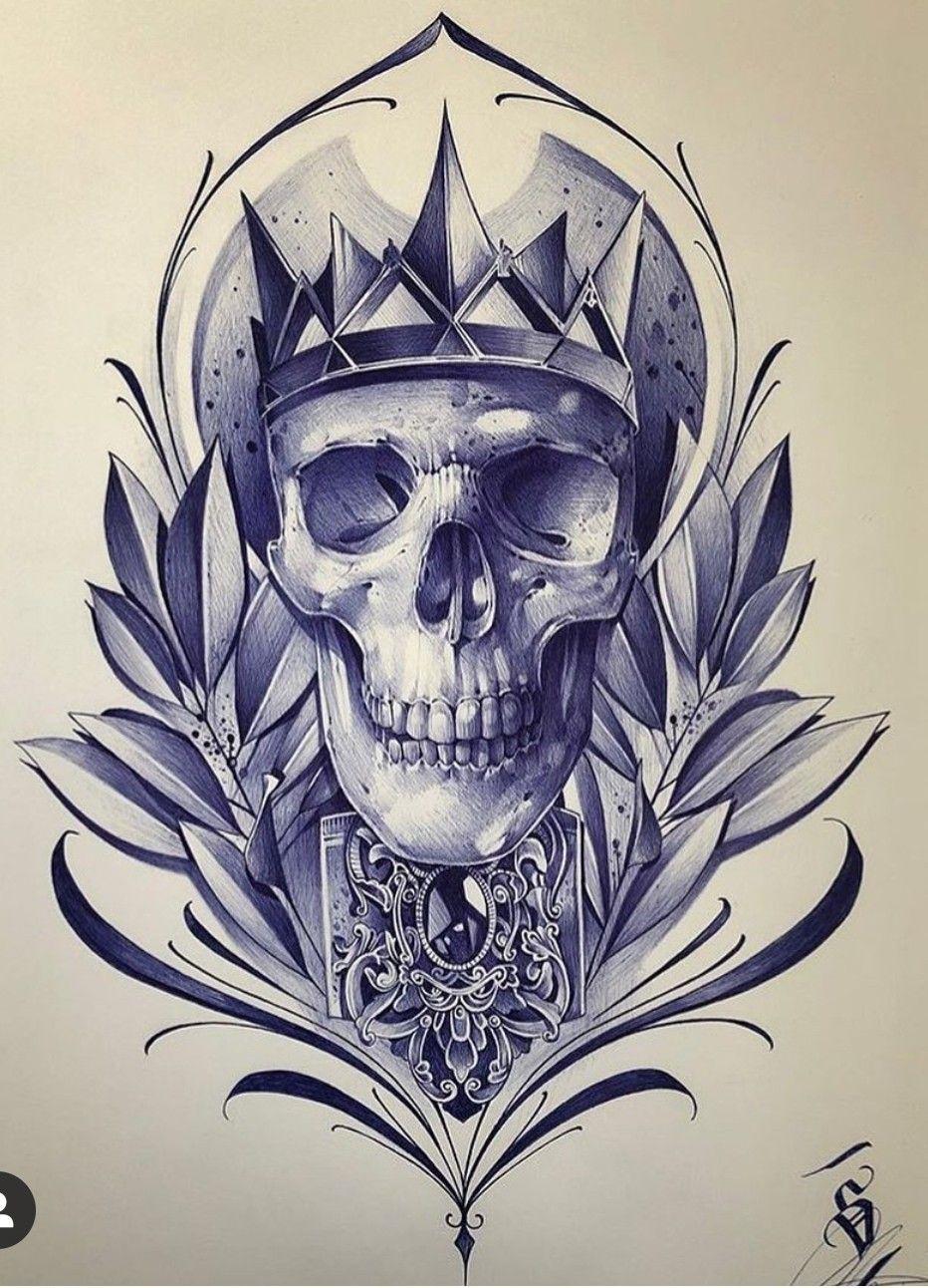 Pin by Alex Lalanne on caveiras Skull tattoo design