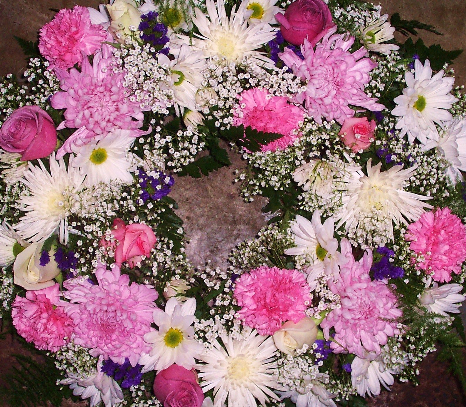 Mixed Funeral Wreath By Crickets Flowers Lexington Ma Sympathy