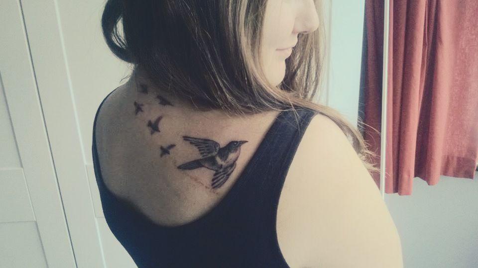 Tattoo I took summer 2013 #birds #tattoo