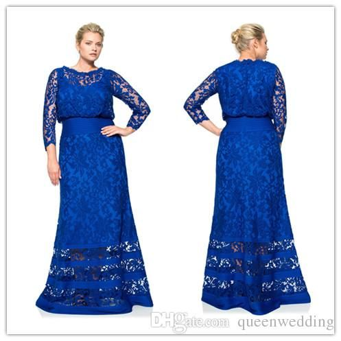 Elegant 2015 Plus Size Mother of the Bride Dresses Royal