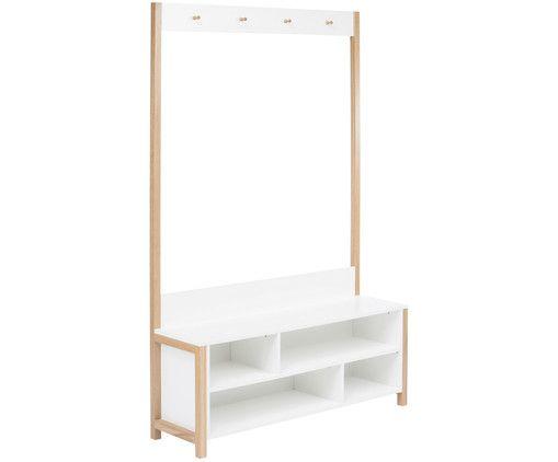 Garderobe Northgate Settler Weiss Eiche Garderobe Mit Sitzbank