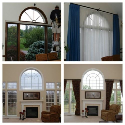 Gallery For Semi Circle Window Curtain Windows Half Circle Window Curtains Living Room