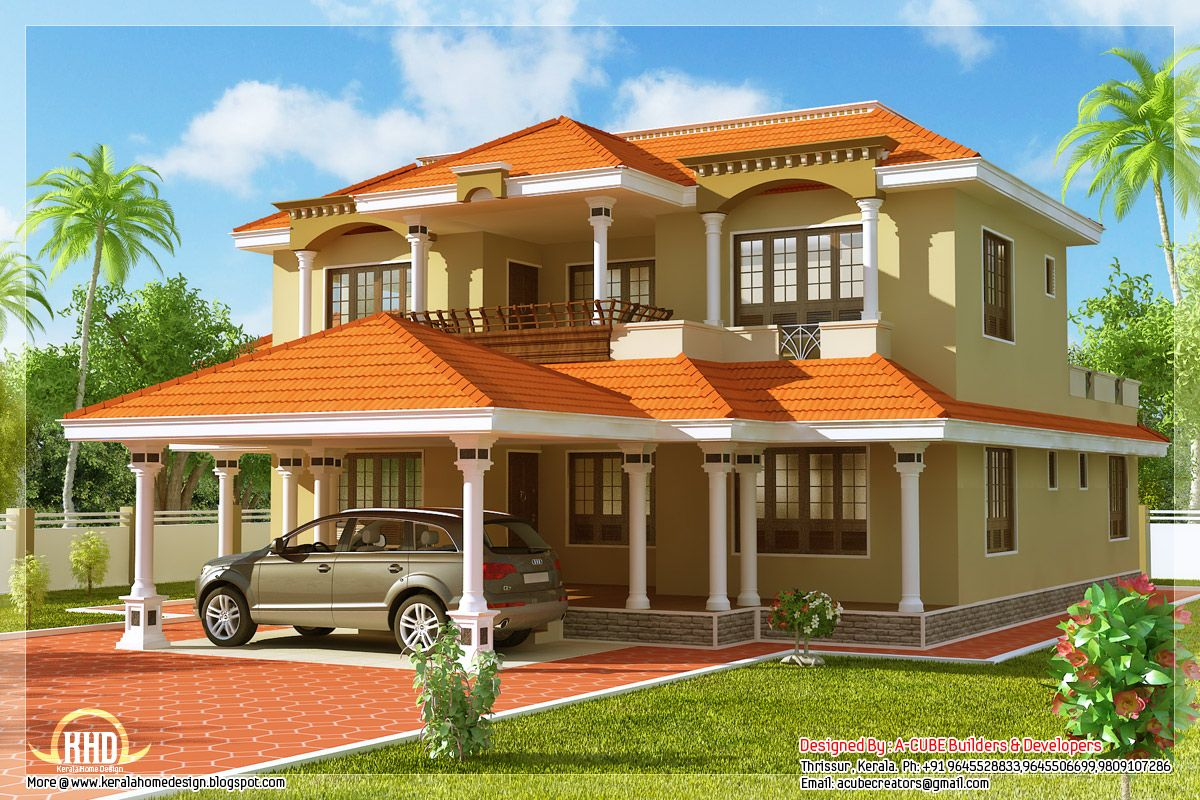 India sloping 1200 800 architecture for Exterior house designs indian style