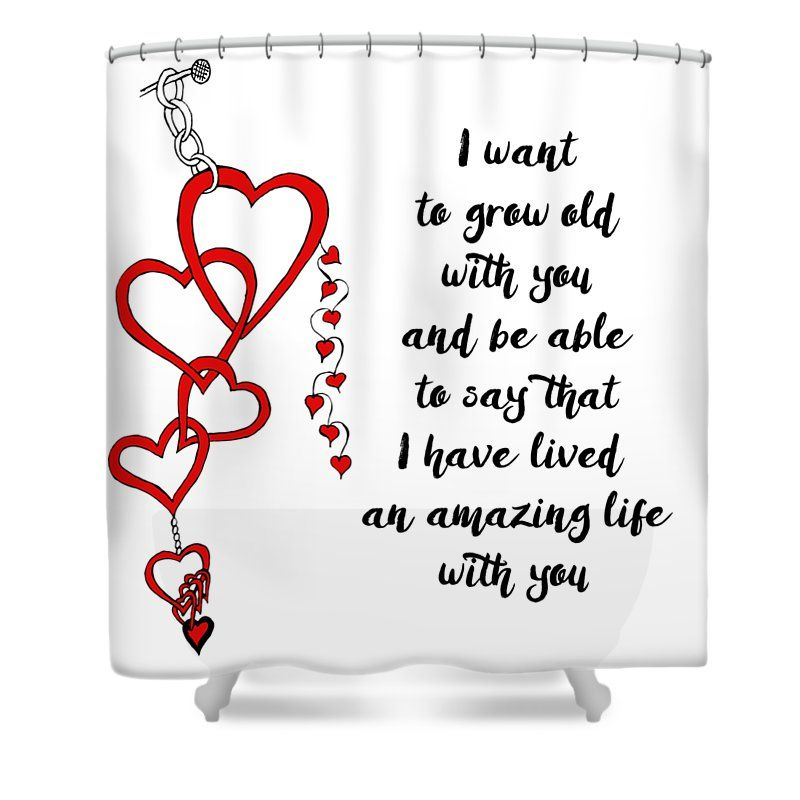 Chained Heart For Valentines Day Shower Curtain For Sale By