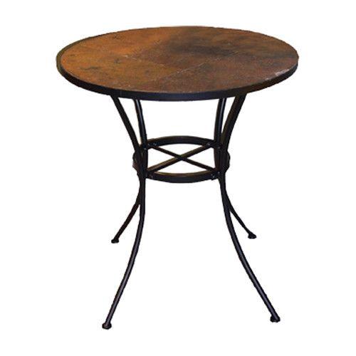 barker ridge round bistro table with slate top deck style rh pinterest com