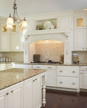 Schrock Cabinets, Giallo Verona Granite Countertops, Schaub Cabinet Hardware