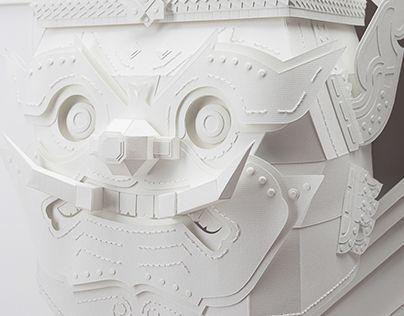 "Check out new work on my @Behance portfolio: """"VIJITSIEAN"" Papercraft"" http://on.be.net/1BKWLmp"