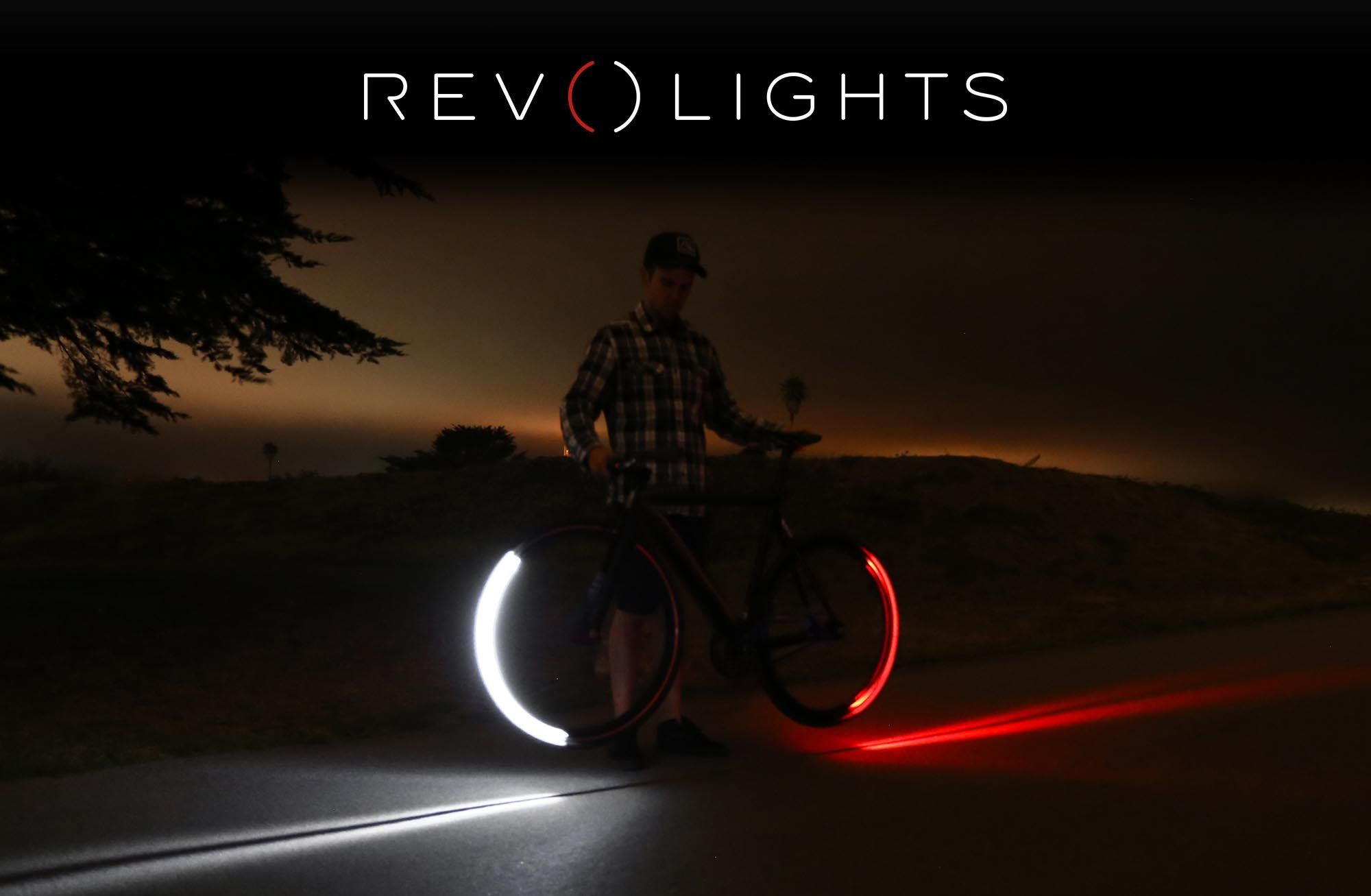 Revolights bike lights are high quality wheel mounted LED