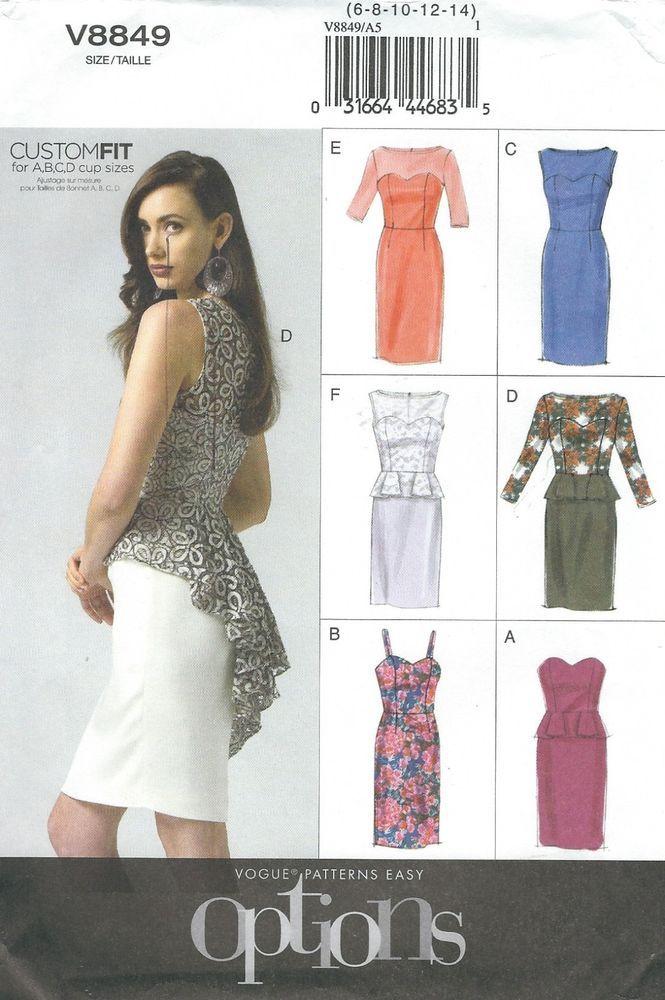 Vogue 8849 Misses\'/Miss Petite Dress Sewing Pattern | Petite dresses ...