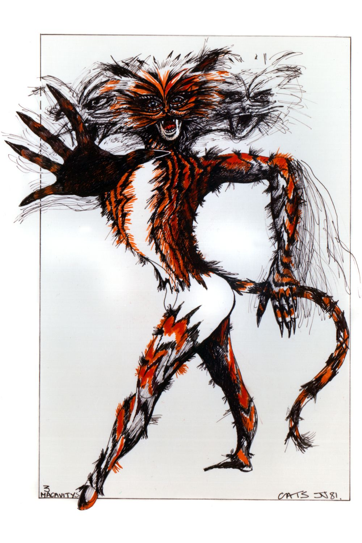 Macavity original costume design, John Napier 1981