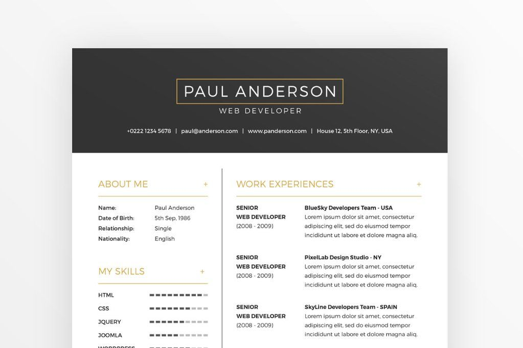 Free Resume  Cover Letter Template  Currculo