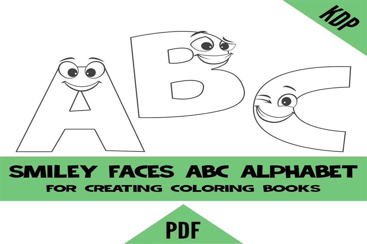 Kdp Smiley Face Alphabet Coloring Pages Sheets Pdf Abc Letters Colouring Pages For Creating A To Z Colori Alphabet Coloring Pages Alphabet Coloring Abc Letters