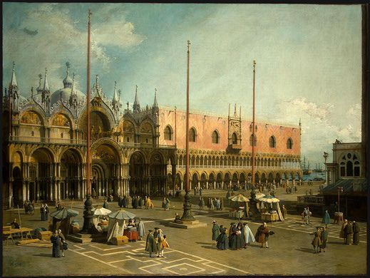 Caneletto The Square Of Saint Mark S Venice Baroque Venice Painting National Gallery Of Art Canaletto