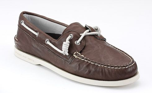 Topsiders...had to tie them like this too.
