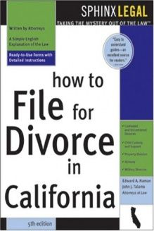 How To File For Divorce In California 5e 978 1572484894 Haman Sphinx Publishing 5 Edition Divorce Divorce Help Divorce Mediation