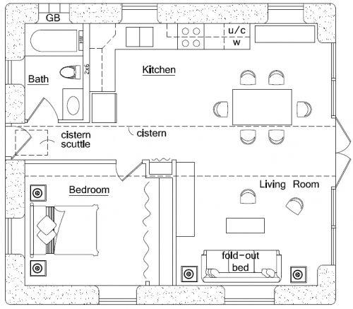 Earthbag building beach house plan energy efficiency for Earthbag house plans free