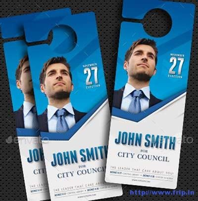 Best Political Door Hanger Template   Door Hanger Template