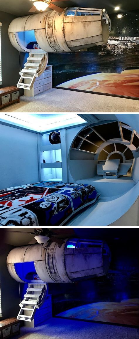 Parents Build an Elaborate Star Wars Bed to Get Their Son to Sleep in His Room