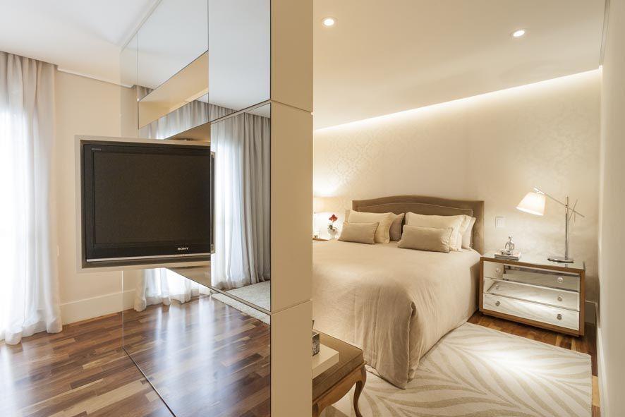 Suite master divis ria espelhada com tv girat ria - Muebles para apartamentos pequenos ...
