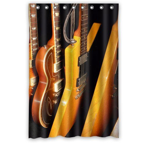 Guitar shower curtain. 100% polyester 48\