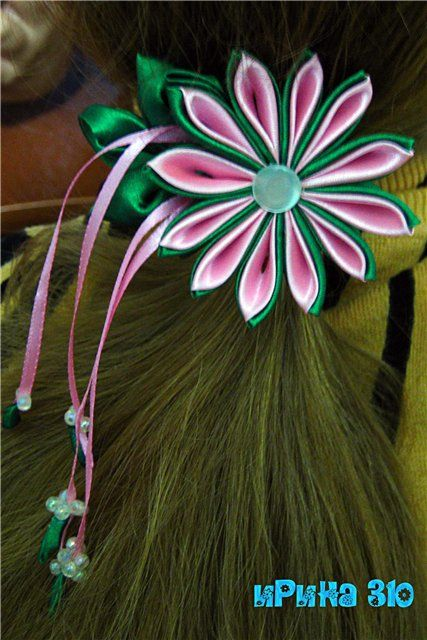 how to craft a bow pin by емилия долапчиева on kanzashi 6752