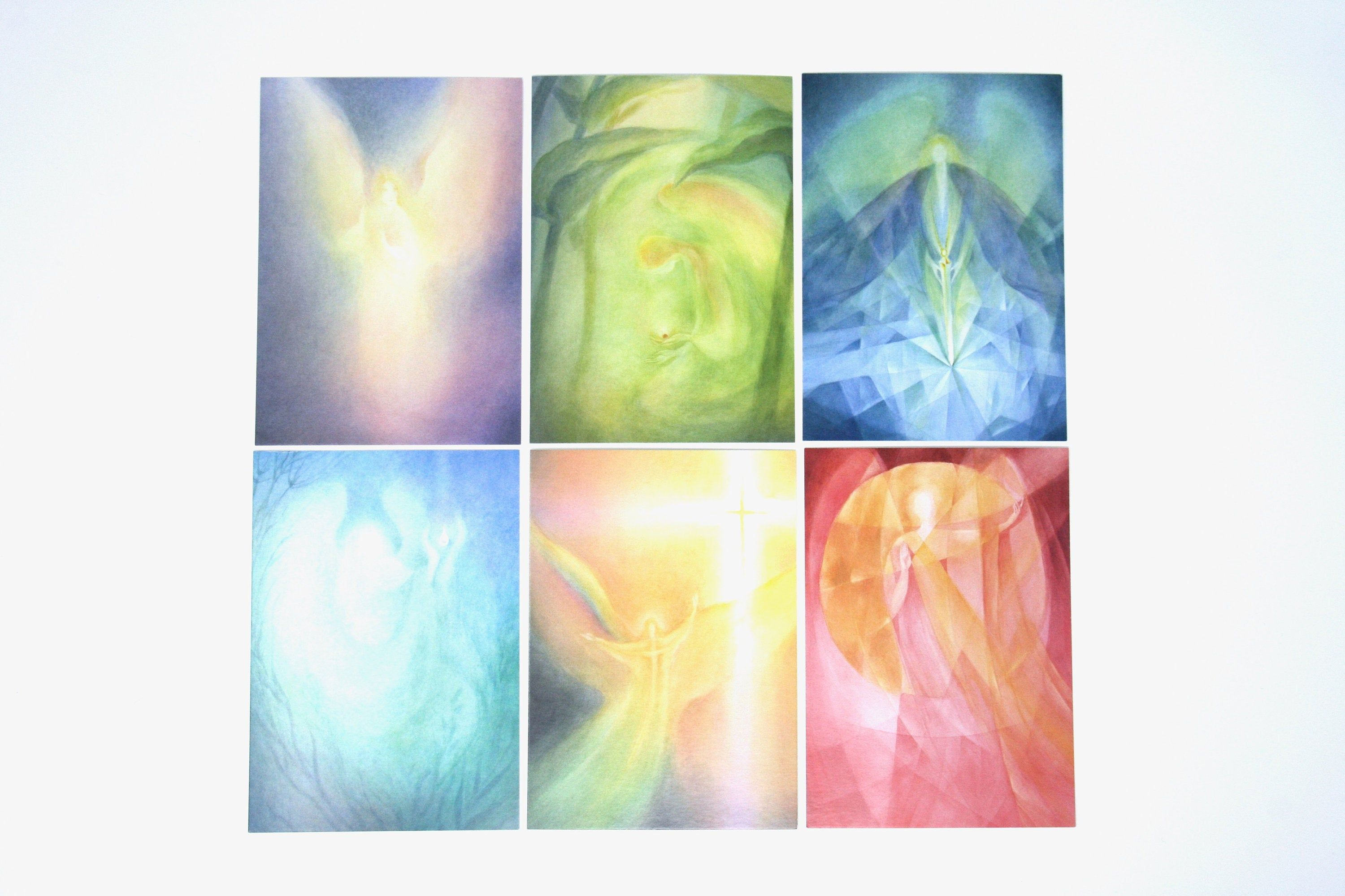 Angel / Guardian angel Postcard set by Brigitte Junghans 6 postcards with beautiful Angel pictures the angels are: Light Life Love Clarity Gem Dignity 15 x 11cm groß