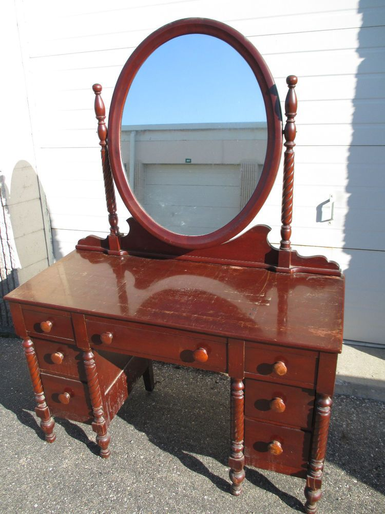 Consider H Willett Cherry Wildwood Dressing Table Carved
