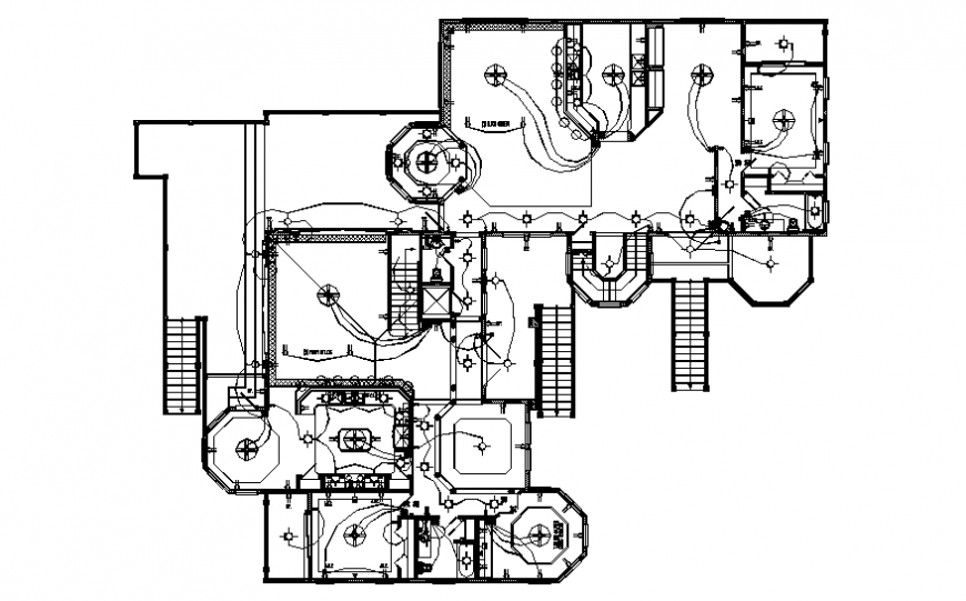 Second floor electrical layout plan details of house
