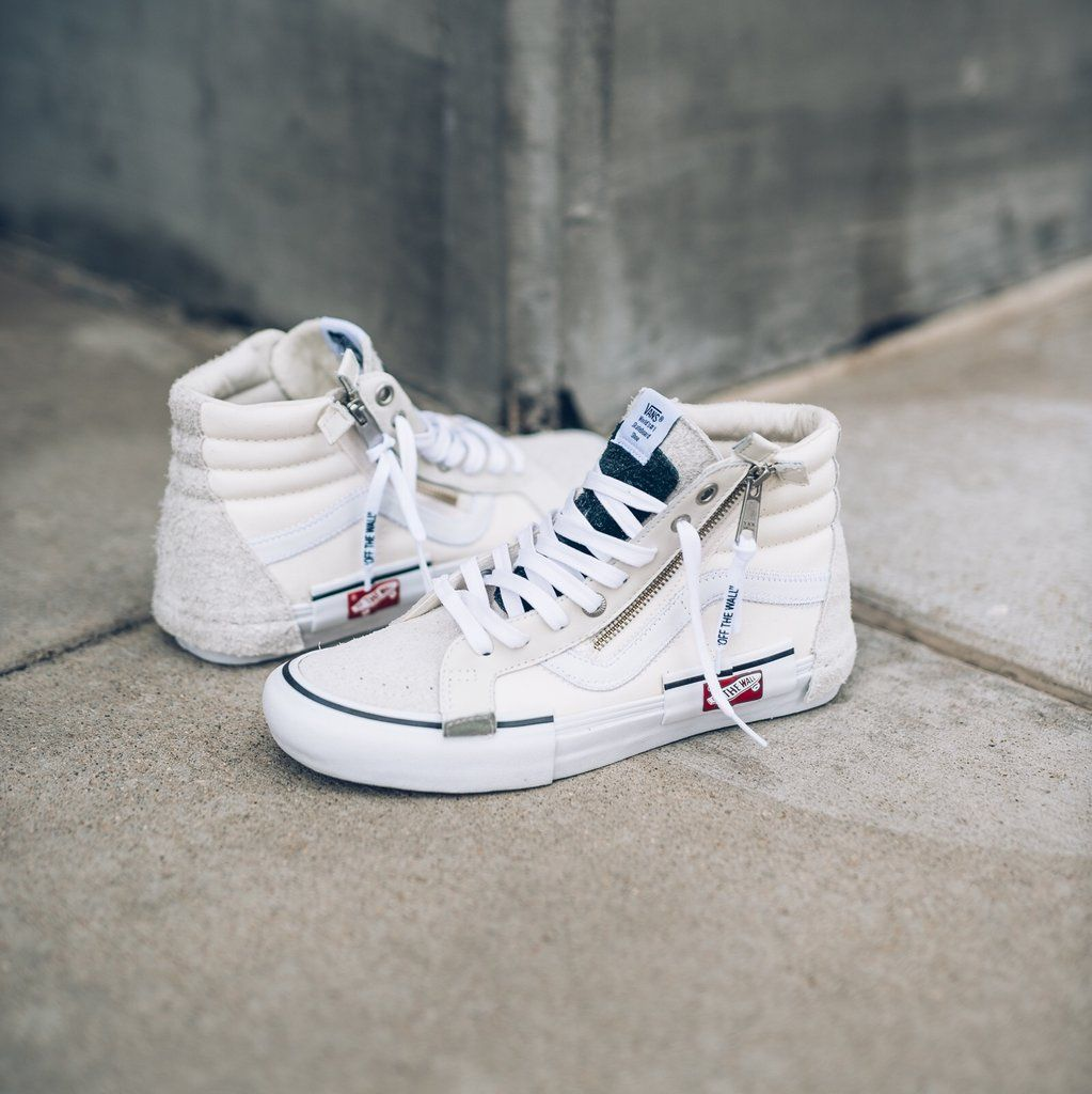 97cfb68346 VANS OFF THE WALL VAULT SK8 HI CAP IVORY WHITE VN0A3TKMUC0