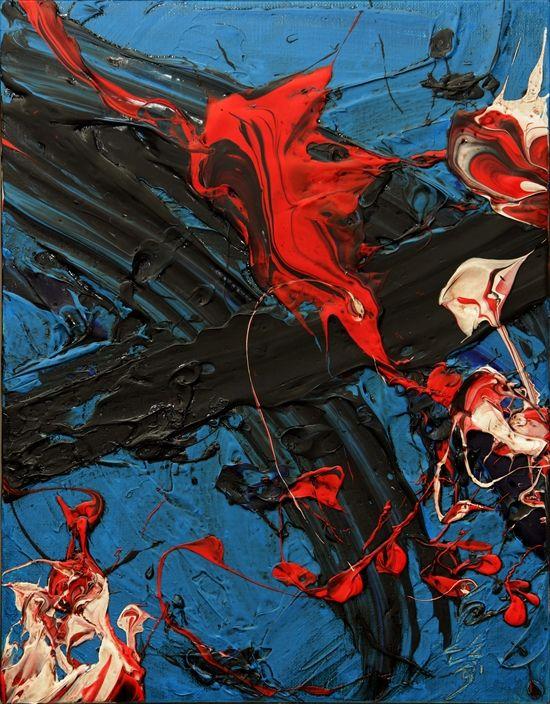 Kazuo Shiraga (Japanese, 1924–2008), Ocean Fire, 1981