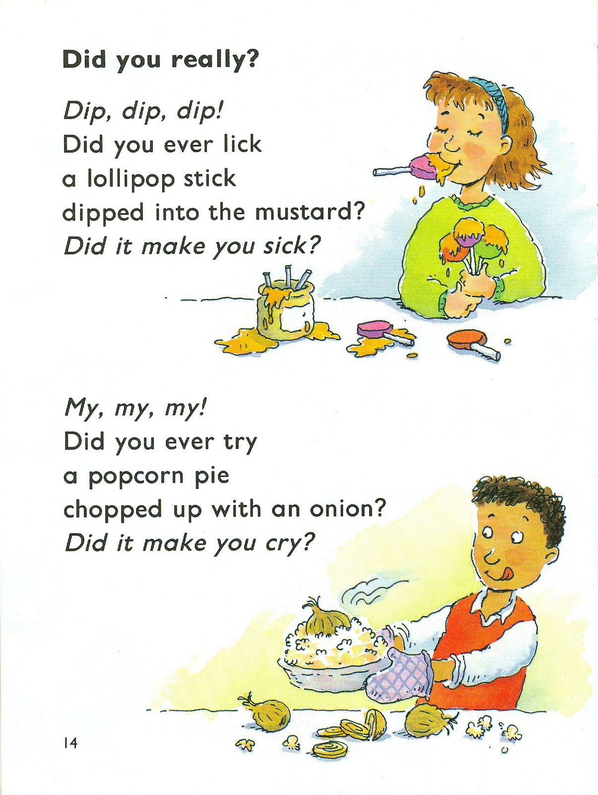 Funny English Classroom Food Poem