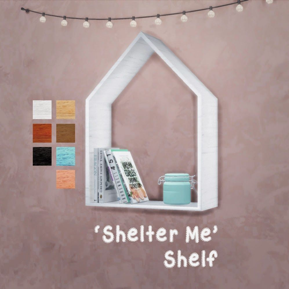 My sims 3 blog sims 3 collage wall decor by michelleab - My Sims 4 Blog Shelter Me Shelf By Reivan13sims
