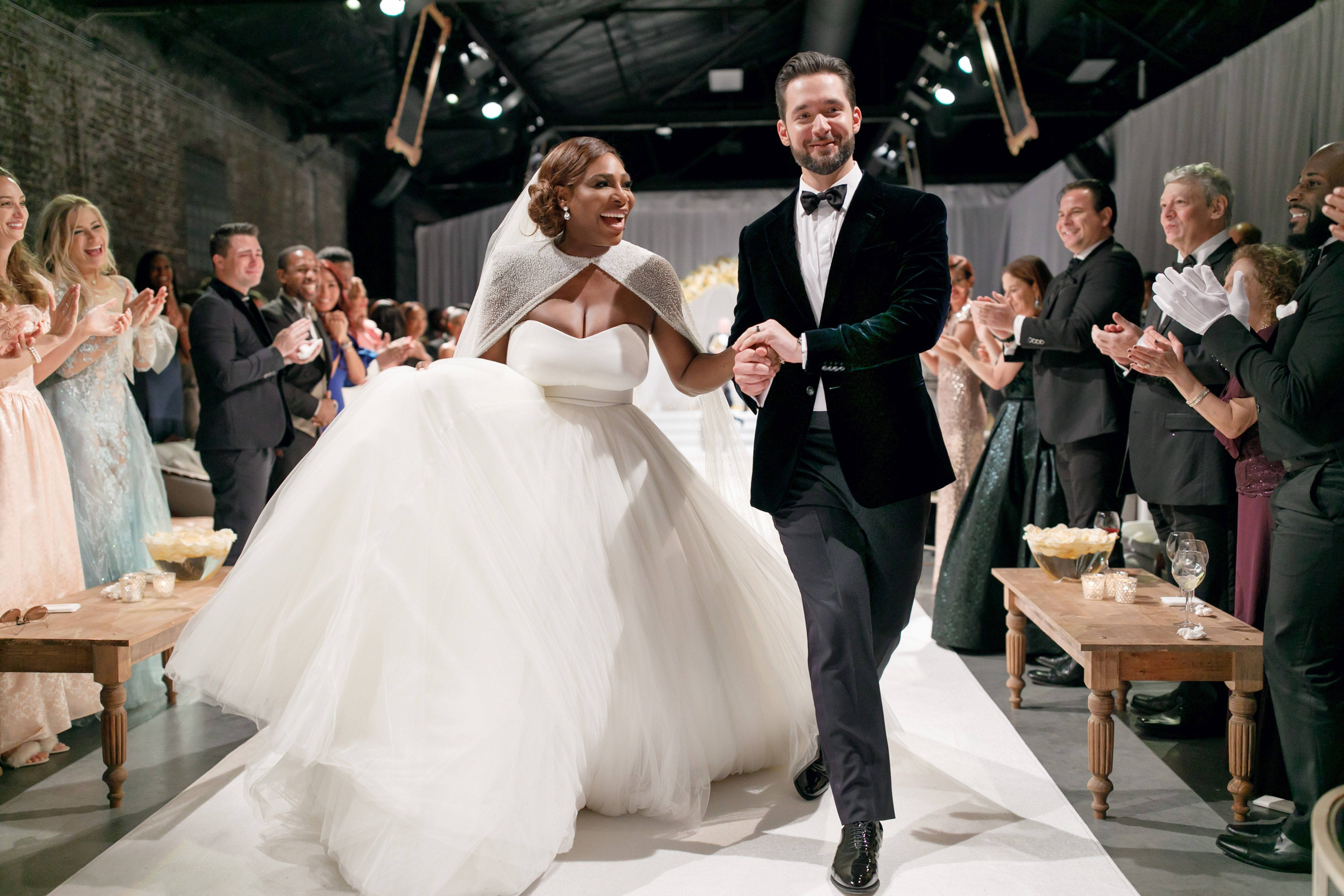 Serena Williams And Alexis Ohanian S Wedding Photo Album Is Here Serena Williams Wedding Celebrity Weddings Wedding Dress Prices