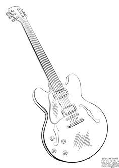 how to draw an electric guitar step by step drawing tutorials Ibanez 5 String Bass how to draw an electric guitar step by step drawing tutorials