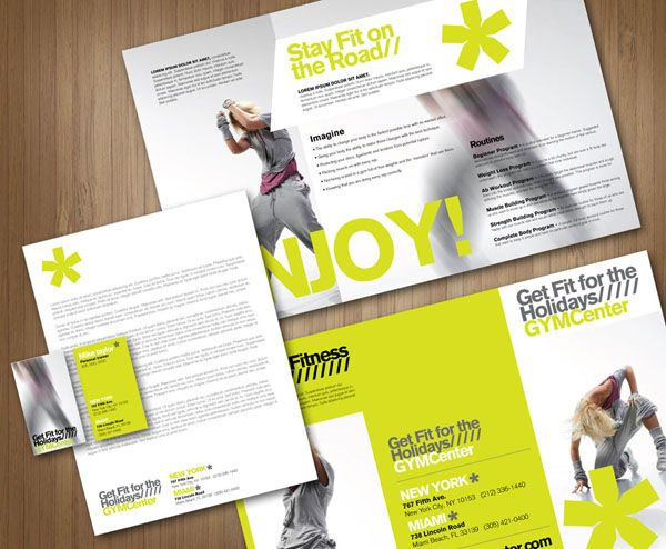 GYM by iknow via Behance design brochures – Gym Brochure