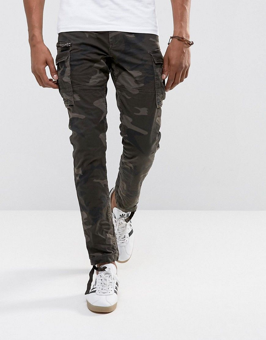 Intelligence Slim Fit Cargo Trouser - Stone Jack & Jones bx52KvX