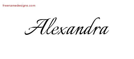 Calligraphic Name Tattoo Designs Alexandra Download Free ...