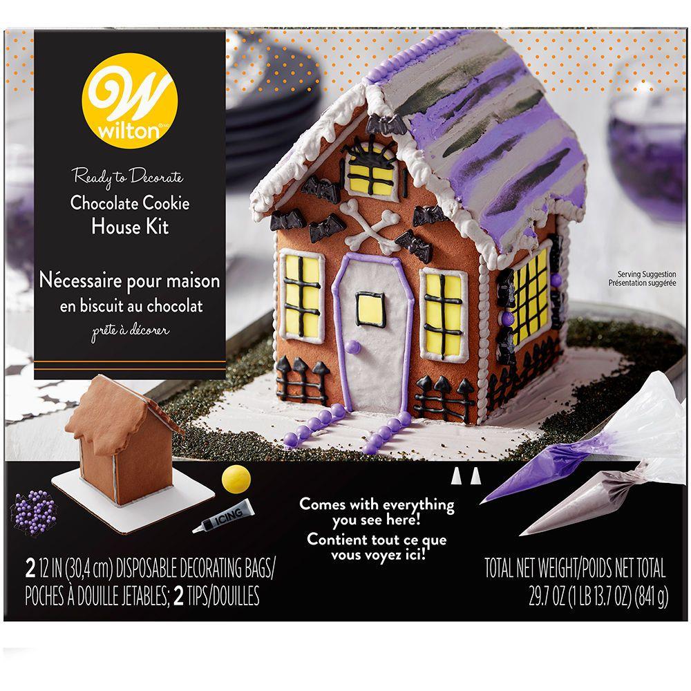Build It Yourself Chocolate Cookie Halloween House