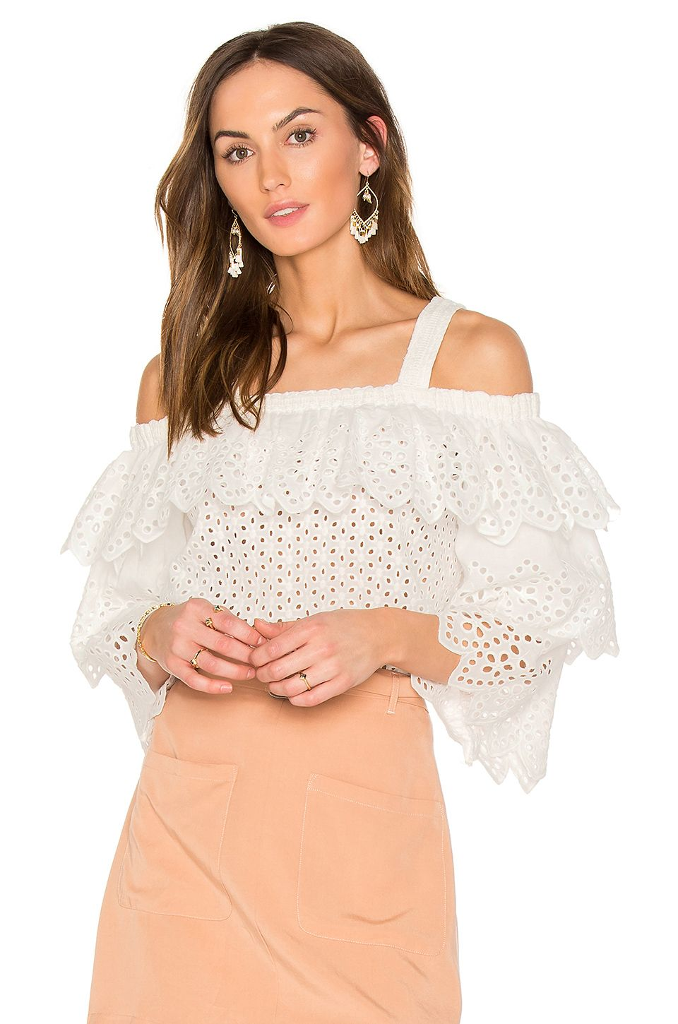 ENDLESS ROSE. Tiered TopsCold Shoulder TopsFashion TopRuffle ...